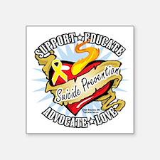 """Suicide-Prevention-Classic- Square Sticker 3"""" x 3"""""""