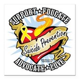 Suicide prevention Square Car Magnets