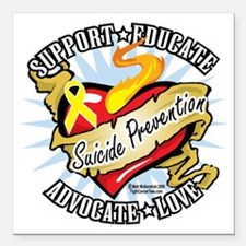 "Suicide-Prevention-Class Square Car Magnet 3"" x 3"""