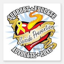 """Suicide-Prevention-Class Square Car Magnet 3"""" x 3"""""""