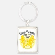 Suicide-Prevention-Butterfly-3 Portrait Keychain