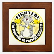 Suicide-Cat-Fighter Framed Tile