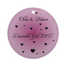 Blush FH Personalized Ornament (Round)