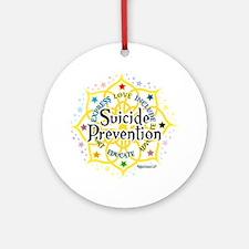 Suicide-Prevention-Lotus Round Ornament