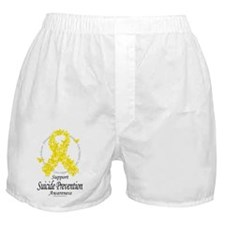 Suicide-Prevention-Ribbon-Of-Butterfl Boxer Shorts