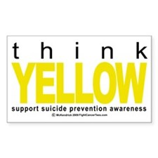 Think-YELLOW-Suicide-Preventio Decal