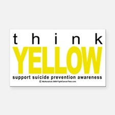 Think-YELLOW-Suicide-Preventi Rectangle Car Magnet