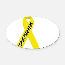 Suicide-Prevention-Hope-BLK Oval Car Magnet