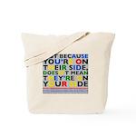 side/side tote bag