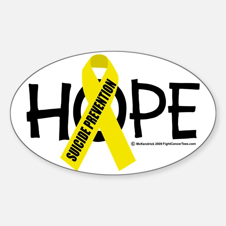 Suicide-Prevention-Hope Sticker (Oval)