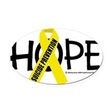 Suicide-Prevention-Hope Oval Car Magnet