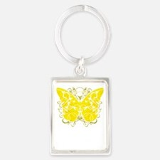 Suicide-Prevention-Butterfly-blk Portrait Keychain