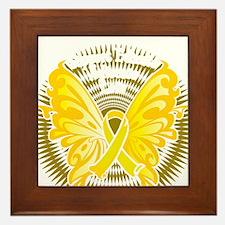 Suicide-Prevention-Butterfly-3-blk Framed Tile
