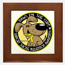 Paws-for-the-Cure-Suicide-Prevention Framed Tile