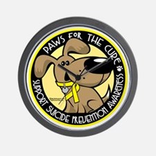 Paws-for-the-Cure-Suicide-Prevention Wall Clock