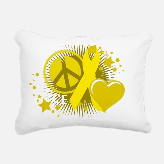 Suicide-PLP-blk Rectangular Canvas Pillow