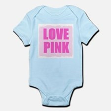 LOVE PINK  Infant Bodysuit(COMES IN 3 COLORS)