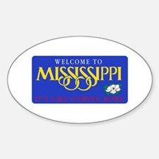 Welcome to Mississippi - USA Oval Decal
