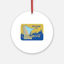 Welcome to Minnesota - USA Ornament (Round)
