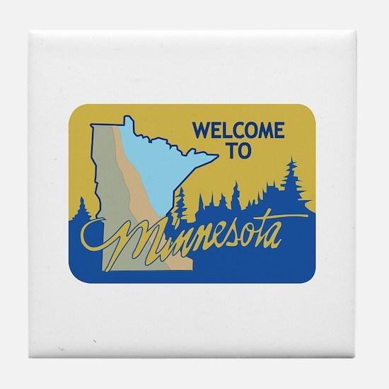 Welcome to Minnesota - USA Tile Coaster