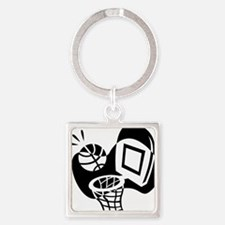 j0319842_BLACK Square Keychain