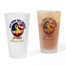 prouddad_navy Drinking Glass