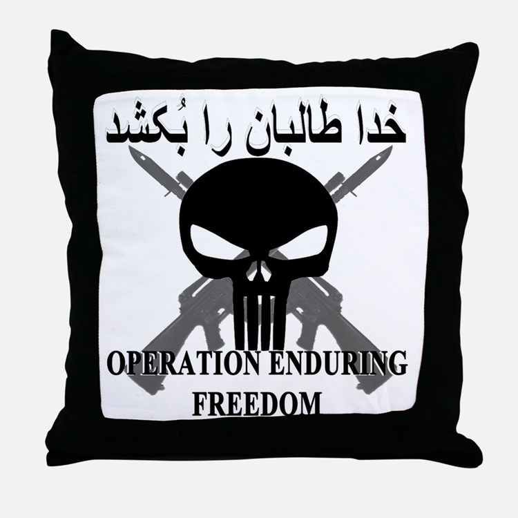2-afghann Throw Pillow