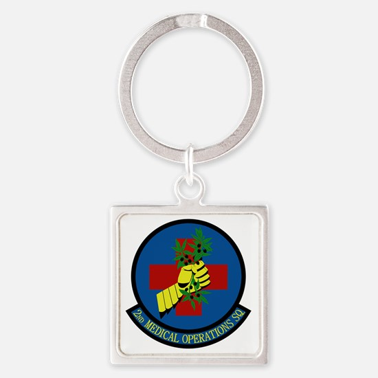 2nd Medical Operations Squadron Square Keychain