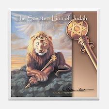 """""""The Scepter"""" Lion of Judah Tile Coaster"""