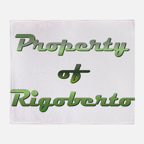 Property Of Rigoberto Male Throw Blanket