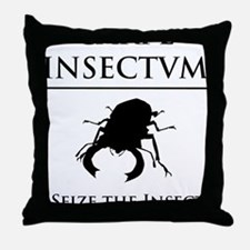 Carpe Insectum D black 3 Throw Pillow