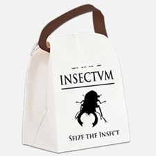 Carpe Insectum D black 3 Canvas Lunch Bag