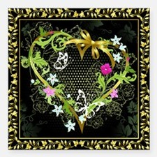 "Entwined Heart Square Car Magnet 3"" x 3"""