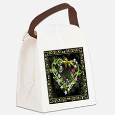 Entwined Heart Canvas Lunch Bag