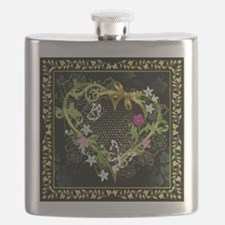 Entwined Heart Flask