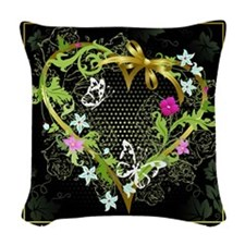 Entwined Heart Woven Throw Pillow