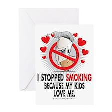 Stopped-Smoking-Kids Greeting Card