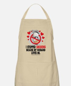 Stopped-Smoking-Husband Apron