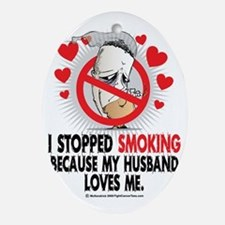 Stopped-Smoking-Husband Oval Ornament