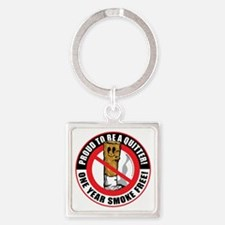 Proud-To-Be-A-Quitter-1-Year Square Keychain