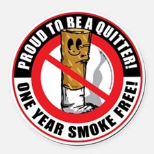 Proud-To-Be-A-Quitter-1-Year Round Car Magnet