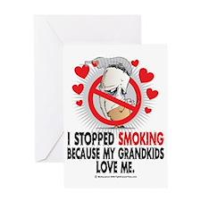 Stopped-Smoking-Grandkids Greeting Card