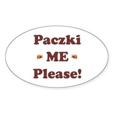 Paczki Me Please Oval Decal