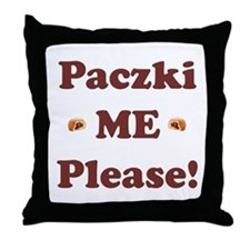 Paczki Me Please Throw Pillow