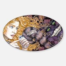 Alice  Cheshire Sticker (Oval)