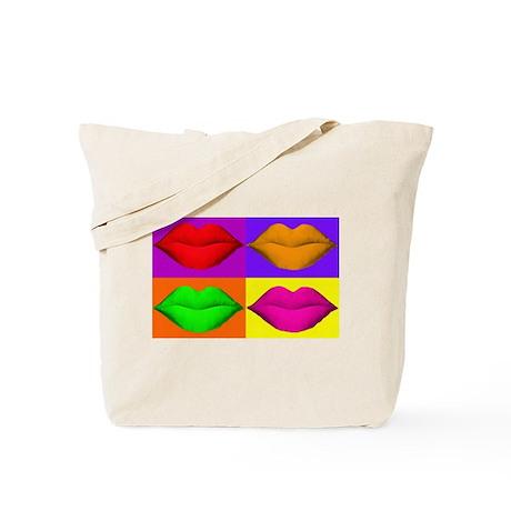 Pop Art Kiss Tote Bag