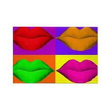 Pop Art Kiss Rectangle Magnet