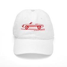 66_68_Alfa_Spider_red Baseball Cap