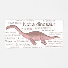 Plesiosaurus_NotADinosaur Aluminum License Plate