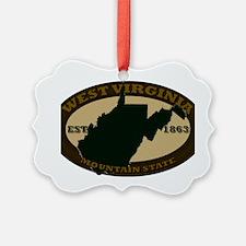 West Virginia Est 1863 Ornament